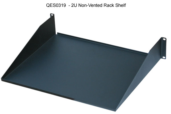 quest manufacturing single sided 2u non vented rack shelf icon
