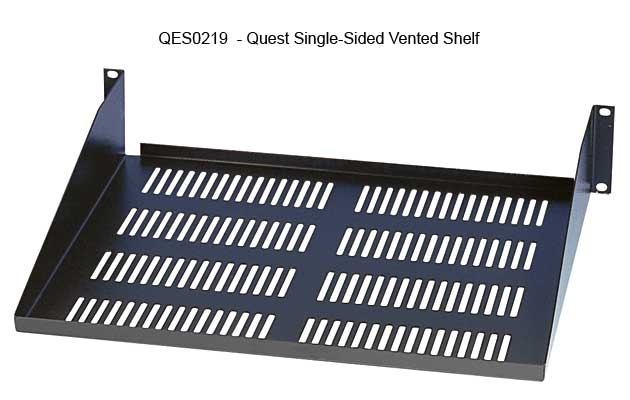 quest manufacturing single sided vented rack shelf icon