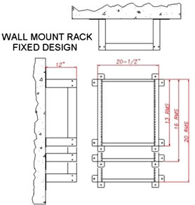 specs for wall mount rack