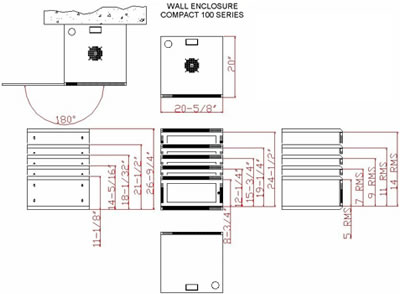 wallmount 100 series enclosure specifications
