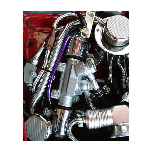 bentley harris convoshield chrome corrugated tubing in use on engine icon