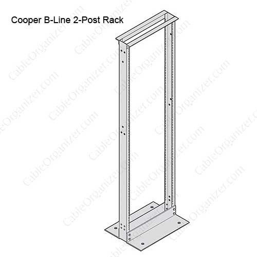 Cooper B-Line Two Post Network Equipment Rack - icon