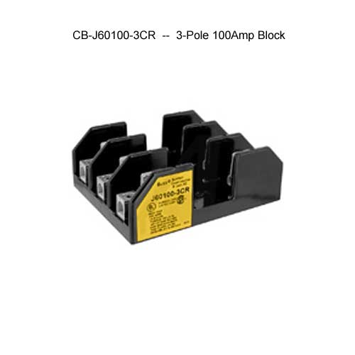 cooper bussmann j600 series 3-pole 100 amp fuse block icon