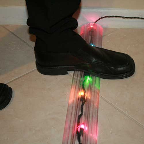 transparent cable protector in use with lights icon