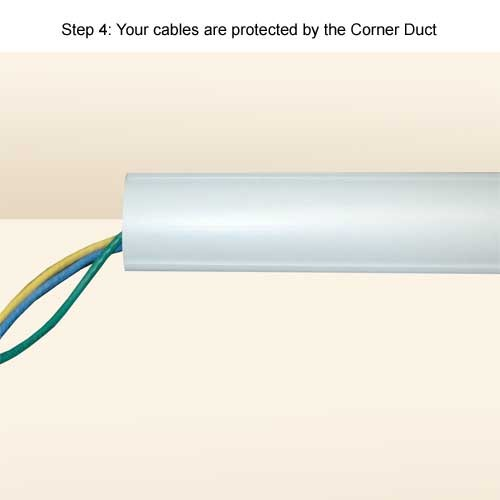 cables protected by cornerduct surface raceway