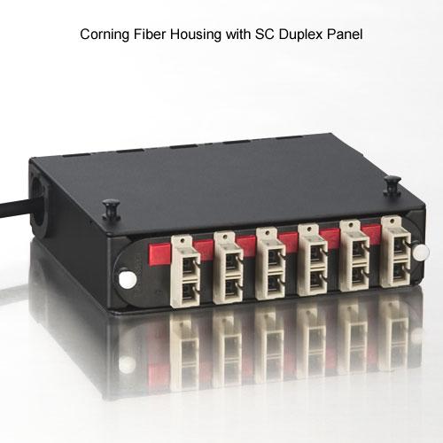 corning fiber housing with sc duplex panel icon