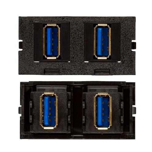 Connectivity Inserts for PCS1A Desk Outlet DMC-U2-USB-A-BK