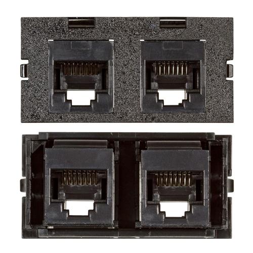 Connectivity Inserts for PCS1A Desk Outlet DMC-U2KEY5FF-BK