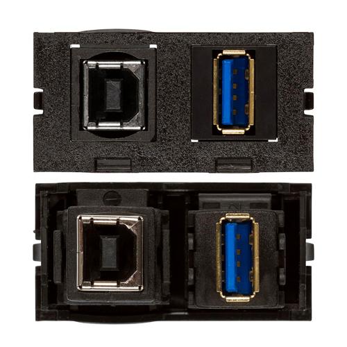Connectivity Inserts for PCS1A Desk Outlet DMC-U2-USB-AB-BK