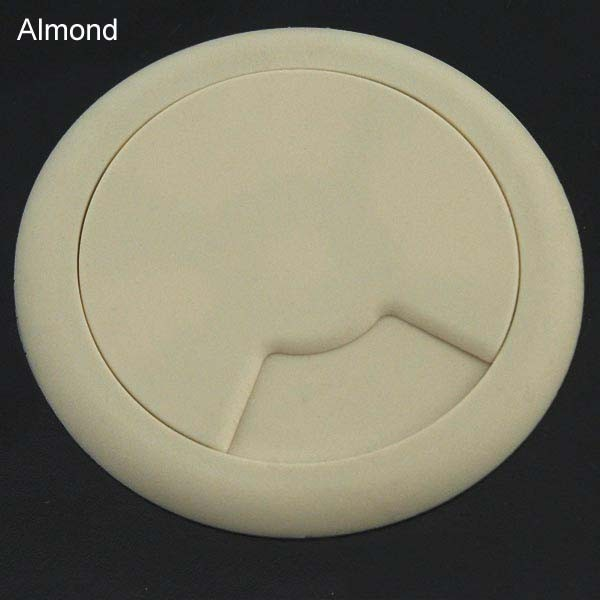 round desk grommet in almond
