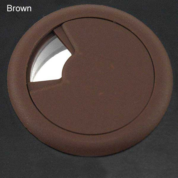round desk grommet in brown