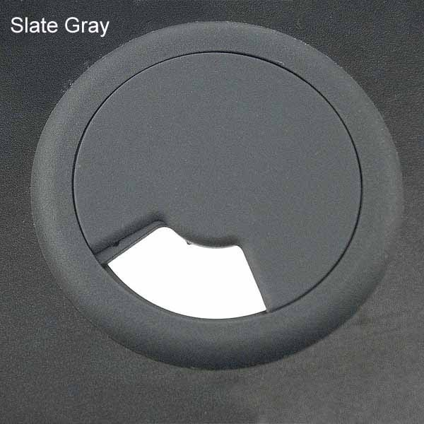 round desk grommet in slate gray