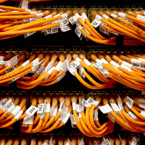 network cables labeled