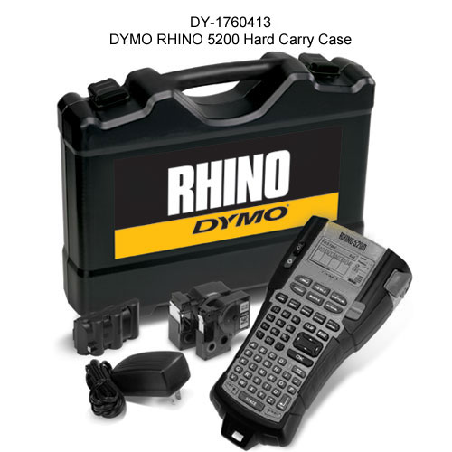 cables labeled using dymo rhino 5200 industrial label printer - icon