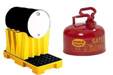 Eagle Manufacturing spill containment and safety cans