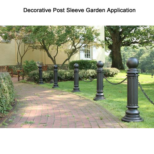 Application of ArmorKraft Decorative Post sleeve at the Garden icon