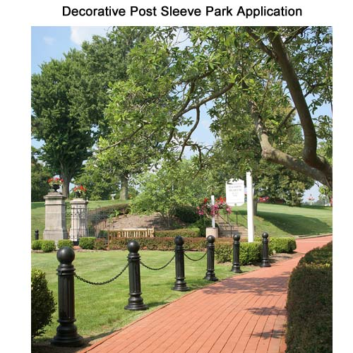Application of ArmorKraft Decorative Post sleeve at the Park icon