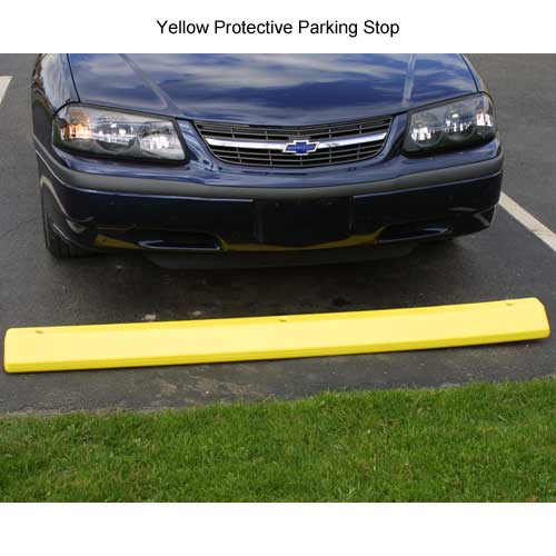 yellow eagle protective parking stop in use - icon