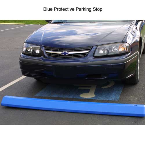 blue eagle protective parking stop in use - icon
