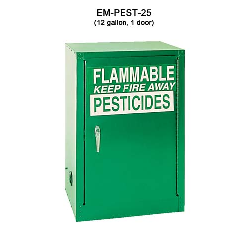 Eagle Manufacturing 18ga Steel Pesticide Cabinet, 12 gal, 1 door