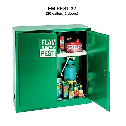 Eagle Manufacturing 18ga Steel Pesticide Cabinet, 30 gal, 2 doors