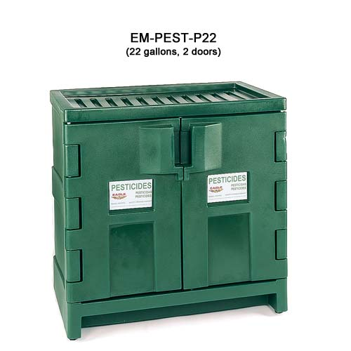 Eagle Manufacturing Polyethylene Pesticide Cabinet, 22 gal, 2 doors