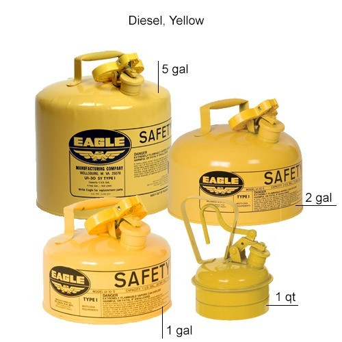 Eagle Manufacturing Type 1 Safety Can Diesel, Yellow