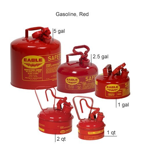 Eagle Manufacturing Type 1 Safety Can Gasoline, Red