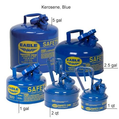 Eagle Manufacturing Type 1 Safety Can Kerosene, Blue