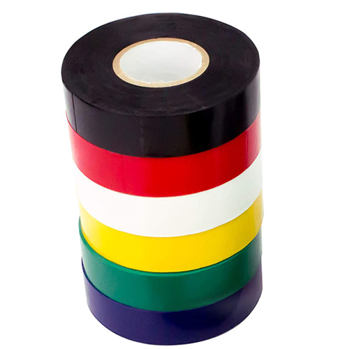 column of electrical tape in assorted colors - icon