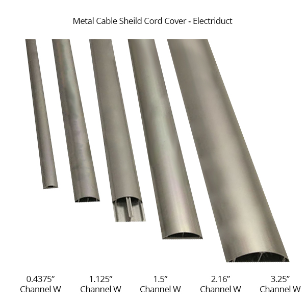 various sizes of metal cord covers
