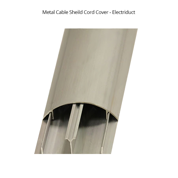 metal cord protector with cover pulled back