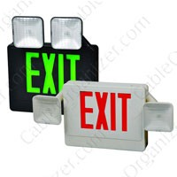 Combo LED Exit Signs and Lights