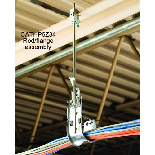 erico caddy j hook cat links with rod and flange assembly in use - icon