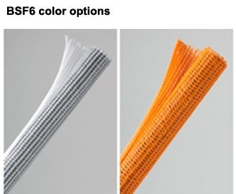 f6 wrap around sleeving in white and orange - icon