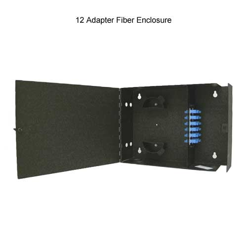 12 adapter Wall Mount Fiber Patch Panel Enclosure opened - icon