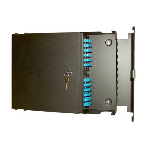 side view with lock of Wall Mount Fiber Patch Panel Enclosure - icon