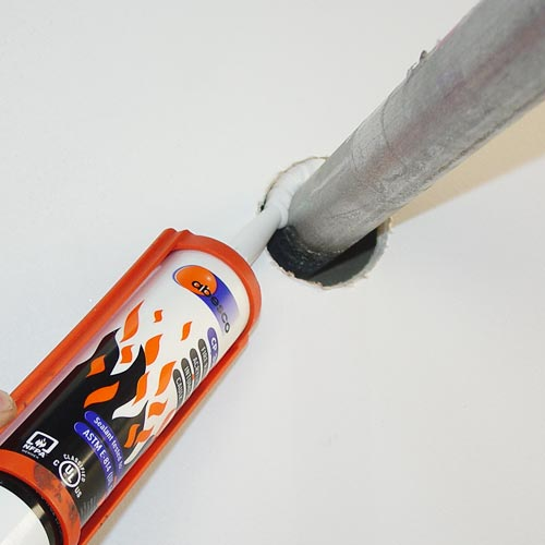 Abesco CP310 Fire Rated Acrylic Intumescent Caulk being applied icon