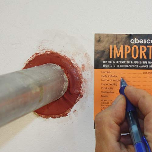 Pipe sealed with Abesco CP310 Fire Rated Acrylic Intumescent Caulk icon