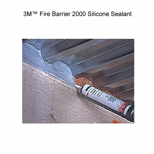 Tube of 3M Fire Barrier 2000 Silicone Sealant in use icon