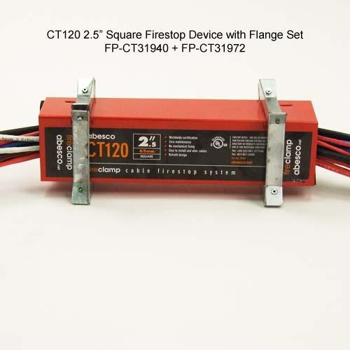 abesco ct 120 cable transit 4 inch square firestop device - icon