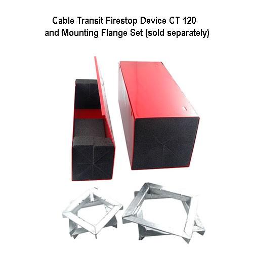 abesco ct 120 cable transit duplex mounting flange set - icon