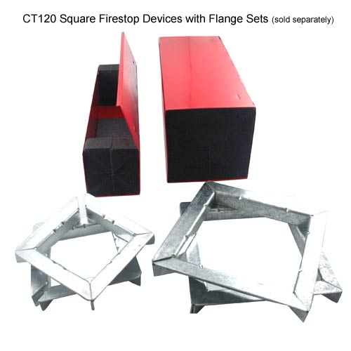 two abesco ct 120 square cable transit devices mounted with duplex flange set - icon