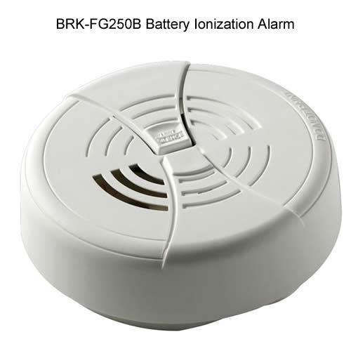 brk first alert battery ionization sensor smoke alarm - icon