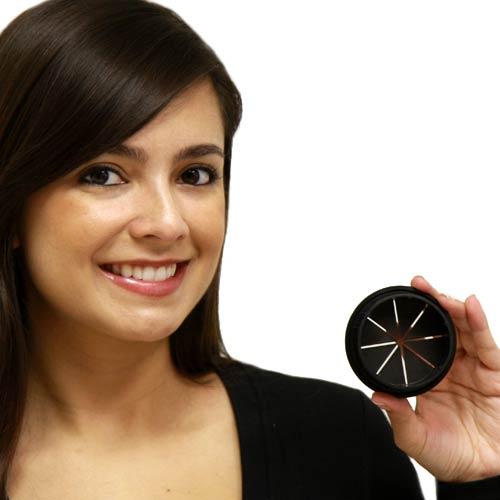 model with flexible desk grommet in black - icon