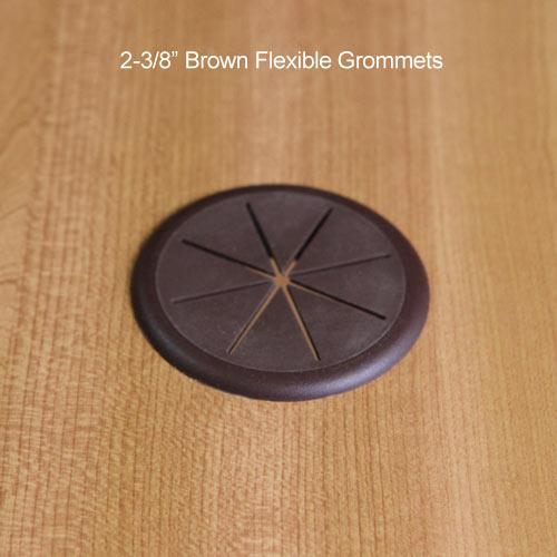 flexible desk grommet in beige - icon