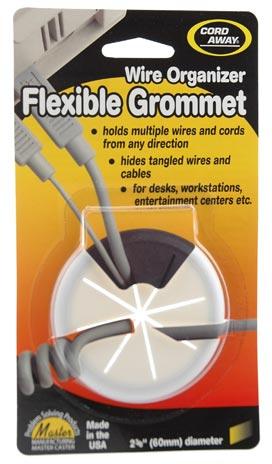 flexible desk grommet in white - icon