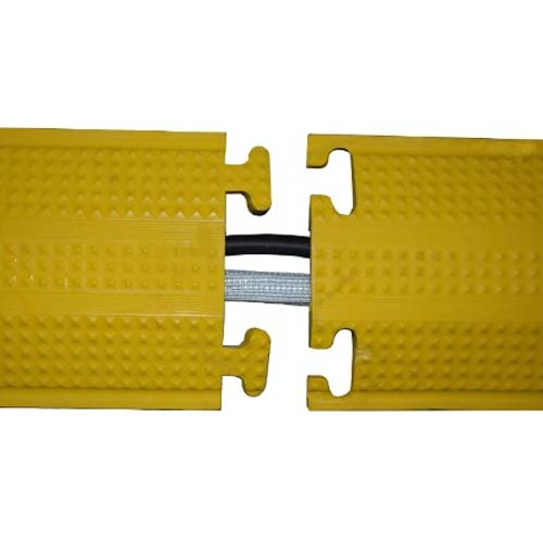 yellow floor cord cover left corners - icon