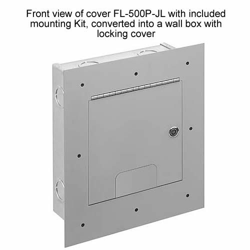 front view of fsr fl 500p with included mounting ki, converted into a wall box with locking covert icon