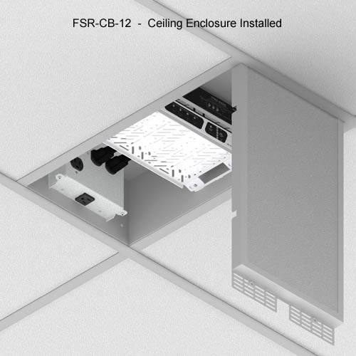 fsr cb series ceiling enclosure installed icon